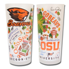 Oregon State Collegiate Frosted Glass Tumbler