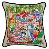 Portland Hand-Embroidered Pillow