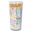 Palm Beach Frosted Glass Tumbler