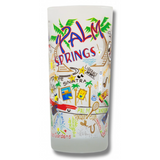 Palm Springs Frosted Glass Tumbler