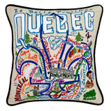 Quebec Hand-Embroidered Pillow