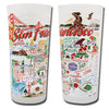 San Francisco City Frosted Glass Tumbler