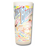 Santa Barbara Frosted Glass Tumbler