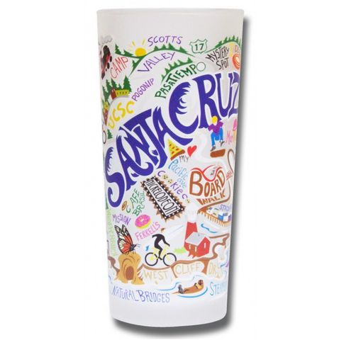 Santa Cruz Frosted Glass Tumbler