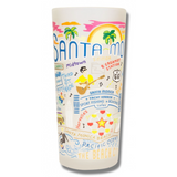 Santa Monica Frosted Glass Tumbler