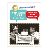 Vintage Cats Note Cards