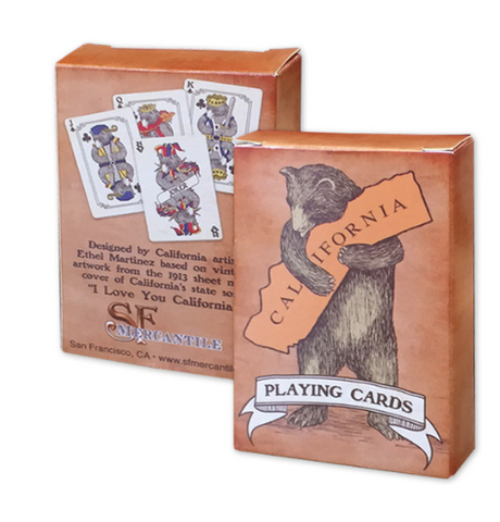 CA Bear Playing Cards