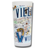 Villanova University Collegiate Frosted Glass Tumbler
