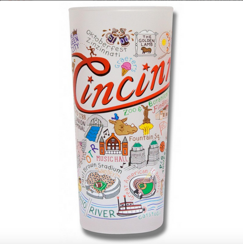 Cincinnati Frosted Glass Tumbler