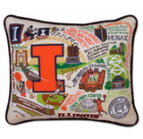 University of Illinois Collegiate Embroidered Pillow