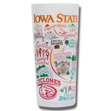 Iowa State University Collegiate Frosted Glass Tumbler
