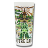Notre Dame Collegiate Frosted Glass Tumbler