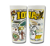 University of Iowa Collegiate Frosted Glass Tumbler