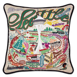Seattle Hand-Embroidered Pillow