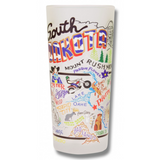 State of South Dakota Frosted Glass Tumbler