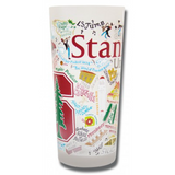 Stanford University Collegiate Frosted Glass Tumbler