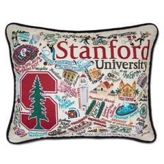Stanford Collegiate Embroidered Pillow