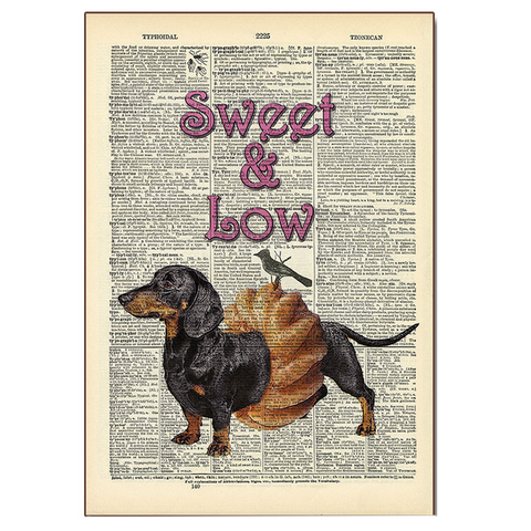 Sweet & Low Wood Sign