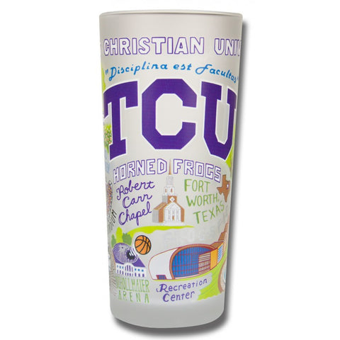 Texas Christian University Collegiate Frosted Glass Tumbler