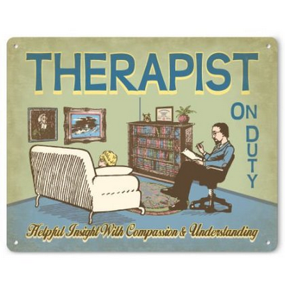 Therapist on Duty Metal Sign (male)