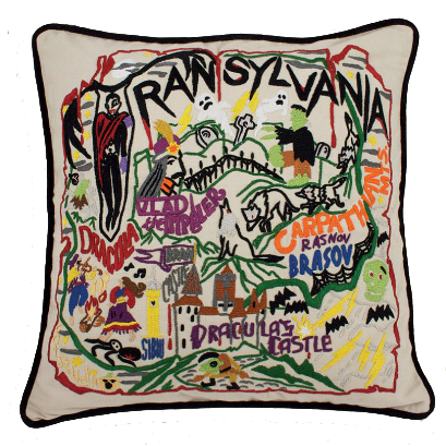 Transylvania Hand-Embroidered Pillow