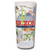 University of Arizona Collegiate Frosted Glass Tumbler