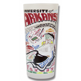 University of Arkansas Collegiate Frosted Glass Tumbler