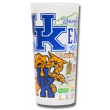 University of Kentucky Collegiate Frosted Glass Tumbler