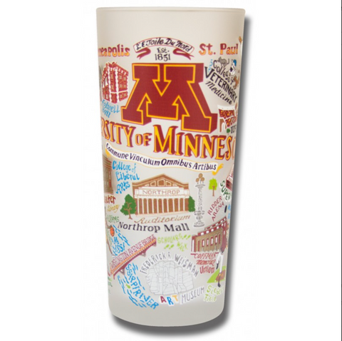 University of Minnesota Collegiate Frosted Glass Tumbler