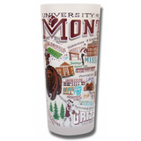University of Montana Collegiate Frosted Glass Tumbler