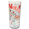 University of Nebraska Collegiate Frosted Glass Tumbler