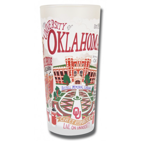 University of Oklahoma Collegiate Frosted Glass Tumbler