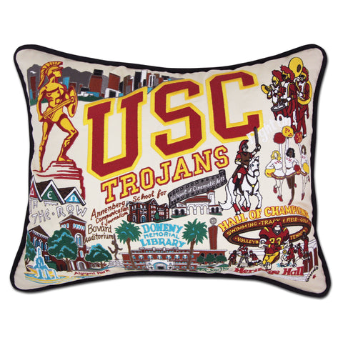USC Collegiate Embroidered Pillow