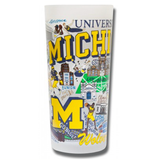 University of Michigan Collegiate Frosted Glass Tumbler