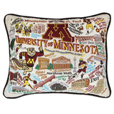 University of Minnesota Collegiate Embroidered Pillow