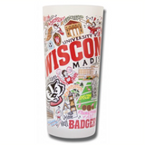 University of Wisconsin Collegiate Frosted Glass Tumbler