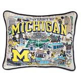 University of Michigan Collegiate Embroidered Pillow