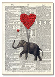 Elephant & Heart Balloons Wood Sign