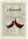 Cheers! Red Wine Wood Sign