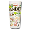 Vanderbilt University Collegiate Frosted Glass Tumbler