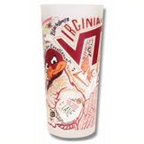 Virginia Tech Collegiate Frosted Glass Tumbler