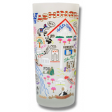 Washington DC Frosted Glass Tumbler
