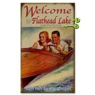 Welcome to the Lake Custom Sign