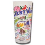 State of West Virginia Frosted Glass Tumbler