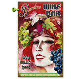 Wine Lady Custom Sign