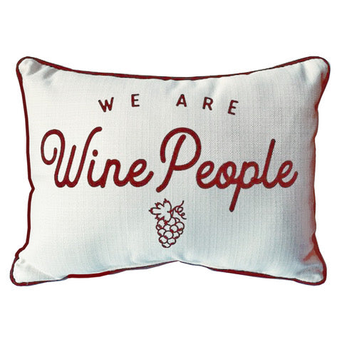 We Are Wine People Pillow