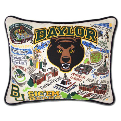 Baylor University Collegiate Embroidered Pillow