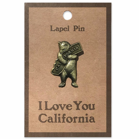 CA Bear Hug Lapel Pin