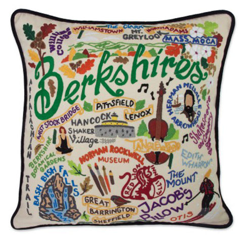 Berkshires Hand-Embroidered Pillow