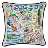 Big Sur Hand-Embroidered Pillow